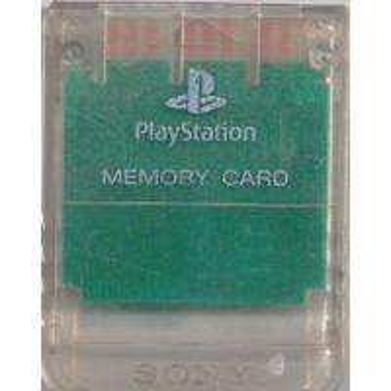 Carte mémoire Officielle Cristal Transparent Sony PS1 PSX