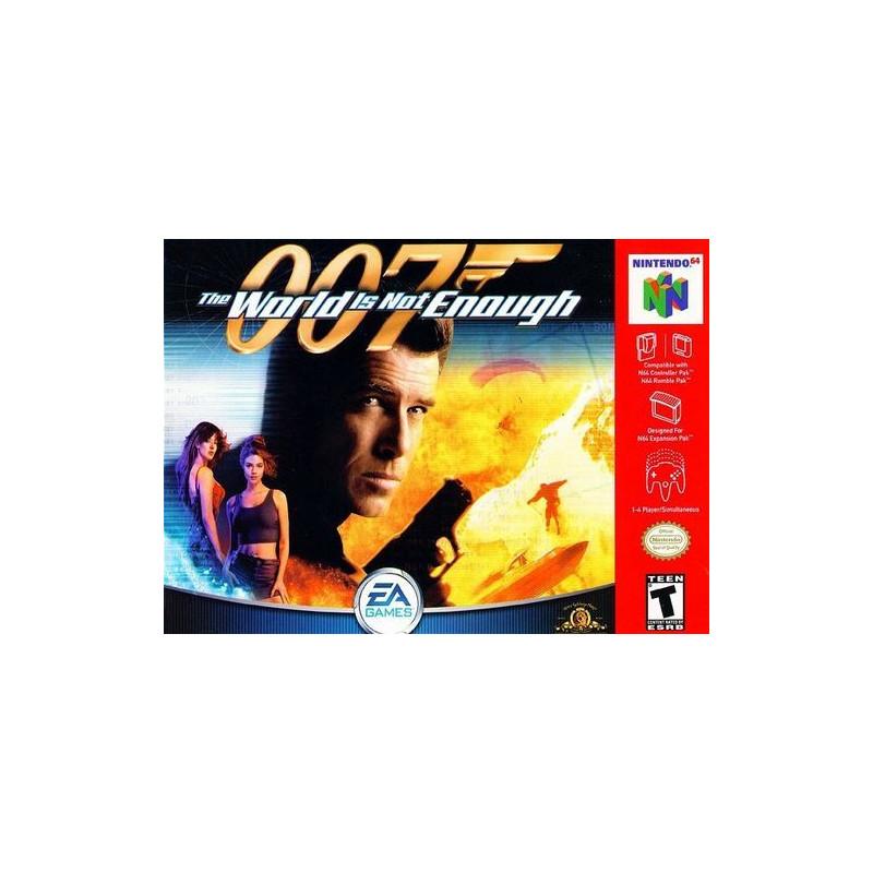 007 Le Monde ne suffit pas en boite N64
