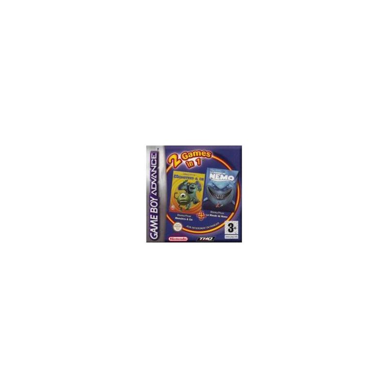 2 jeux en 1 : Monstres et Cie et Nemo GBA
